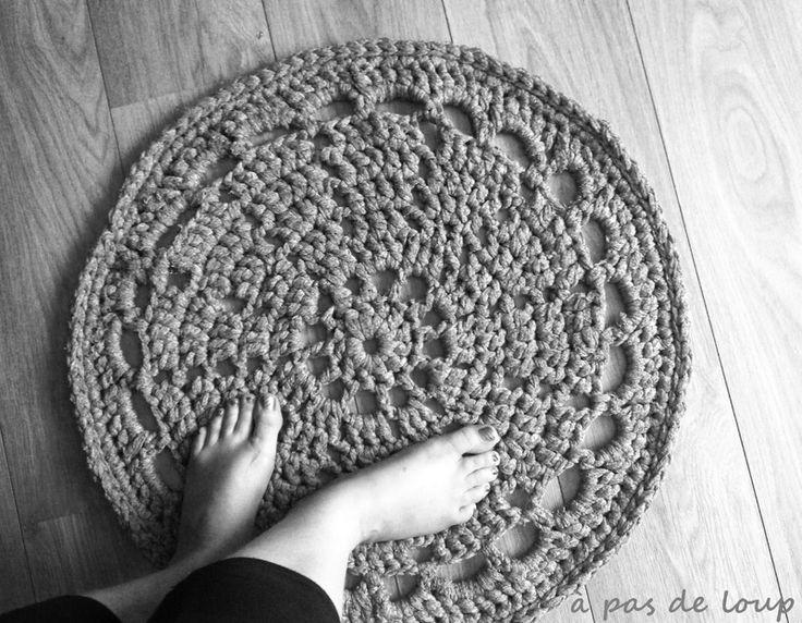 Les 72 meilleures images propos de tapis crochet sur - Modele tapis crochet gratuit ...