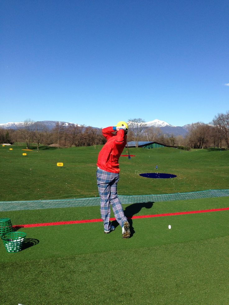 Driving Range at the Golf Club Udine - Fagagna, Italy