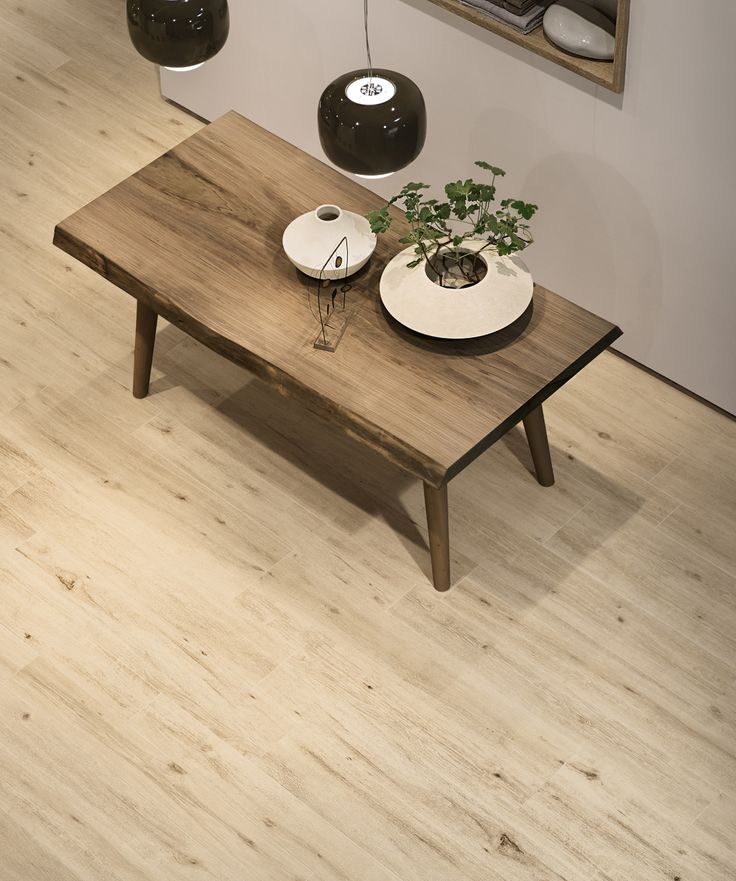 Landscape 'Beige Bright' wood-effect Porcelain floor and wall tiles. Natural finish. Available in 180cm or 120cm length, 26.5cm, 20cm or 16cm width, or mixed widths in one length. #innovative #interiordesign #woodeffect #beige #porcelain #tiles