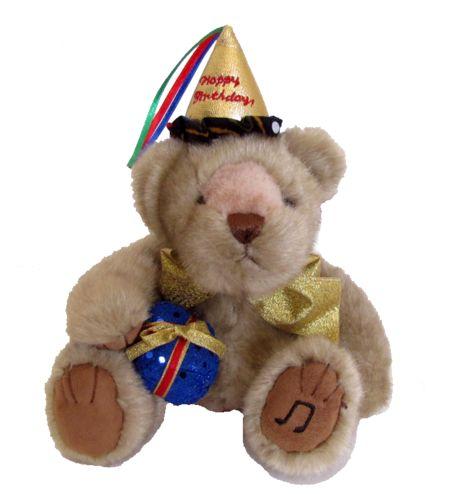 "Birthday Bear that plays a little song ""Happy Birthday to you....""   #sendateddy #teddybear #toy #gift #Birthday #happybirthday #music"