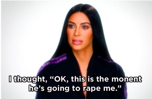 "The KUWTK episode was incredibly emotional, with Kim recounting the ordeal minute by minute. At one point she revealed she had ""mentally prepared"" herself to be raped and shot in the head. 
