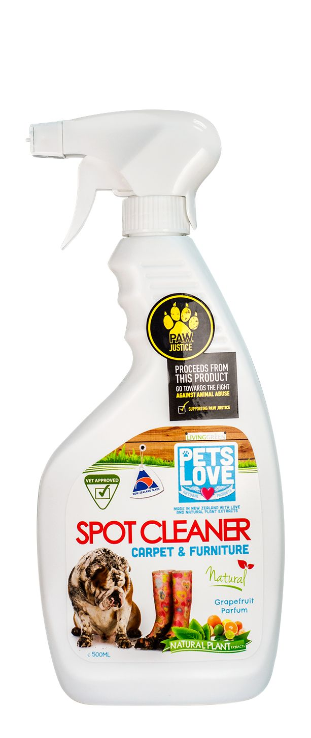 Our Petslove Spot Cleaner is great for little accidents on carpets and furniture.