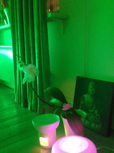 Grönt - Hjärtchakrat ChakraHarmoni - en träningsform som balanserar dina chakran genom användning av färger, eteriska oljor, musik och rörelser från olika typer av yoga och qigong.