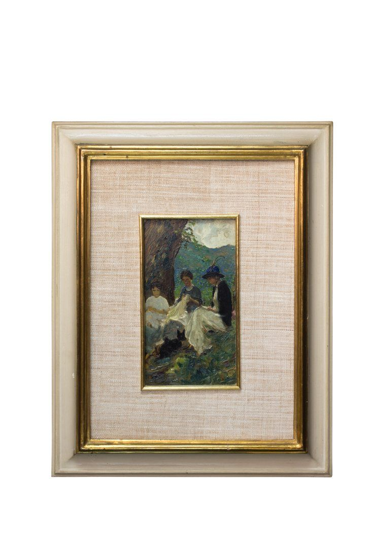 Lot: Fabbi, Cucitrici all'aperto, Lot Number: 0686, Starting Bid: €2,000, Auctioneer: Gonnelli Casa D' Aste, Auction: Day 2: Modern Drawings Paintings & Sculptures, Date: June 15th, 2016 CEST