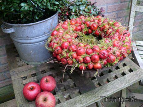 kerstversiering: gietijzeren bak met rode malusappeltjes - Google zoeken
