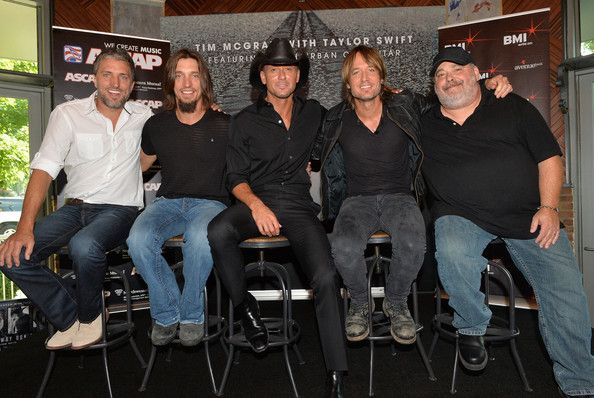 "Keith Urban Photos Photos - (EXCLUSIVE)  Brett Warren, Brad Warren, Tim McGraw, Keith Urban and Mark Irwin attend as Tim McGraw Celebrates Multi-Week No. 1 ""Highway Don't Care"" at Music City Tippler on August 20, 2013 in Nashville City. - Tim McGraw Celebrates His New Hit Single"