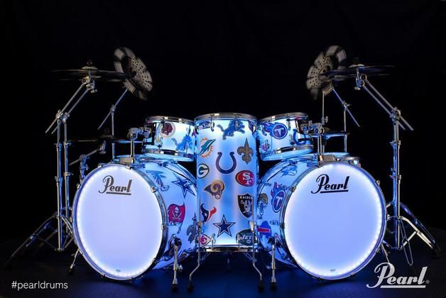 Chad Smith's Super Bowl Halftime Show Pearl drum kit up for auction