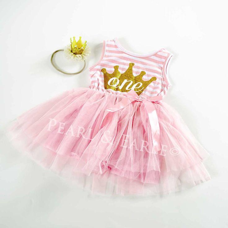 Pink Tutu Dress, Tutu Dress for 1 year old, Tutu Dress Birthday, First Birthday, One birthday dress, Cake Smash Tutu, One Glitter Dress by PearlandEarle on Etsy https://www.etsy.com/listing/552804507/pink-tutu-dress-tutu-dress-for-1-year
