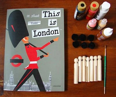 This is London book+ craft activity