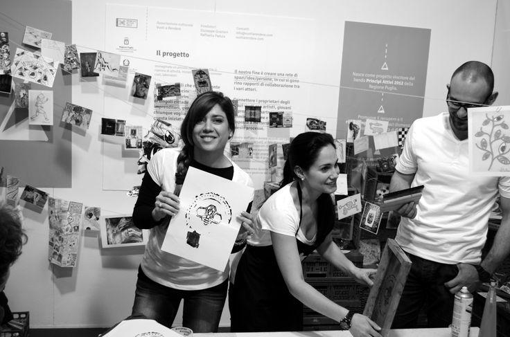 Arte in Movimento #aim14fiera #aim14 #serigrafia #silkscreen #printing http://arteinmovimento2.wordpress.com/  © Colaboratorio Arte