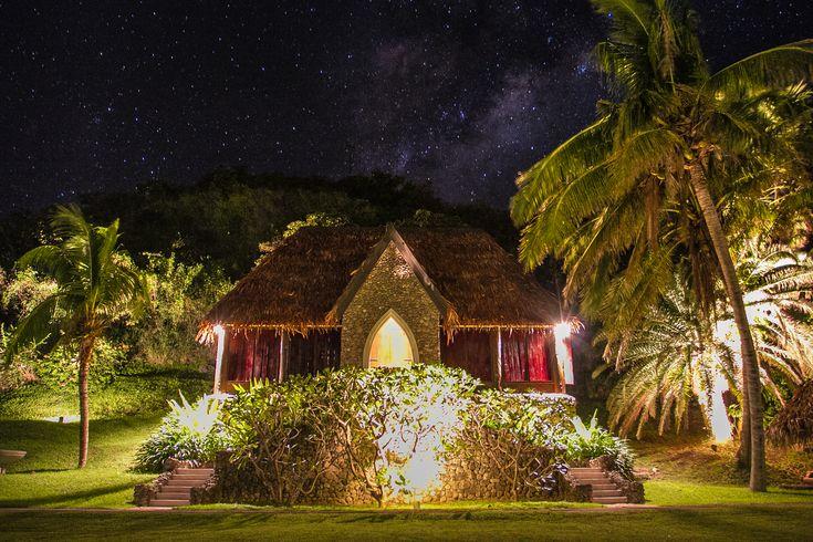 Tokoriki Island's Traditional Chapel by Night