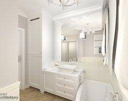 Elegancka łazienka w stylu klasycznym. - zdjęcie od Atelier Architektury Magdalena Potok-Wika