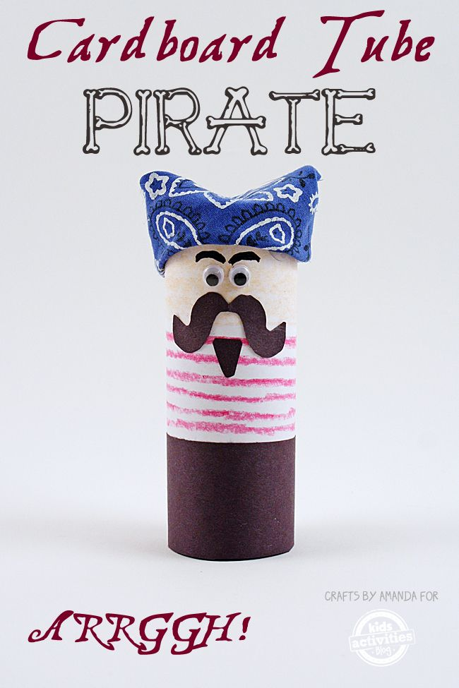 This fun pirate craft for kids doubles as a finger puppet! Make several with friends, use different colors for each one and make an entire scurvy crew.