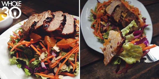 Chinese 5-Spice Pork Tenderloin & Salad with Sesame-Ginger Vinaigrette