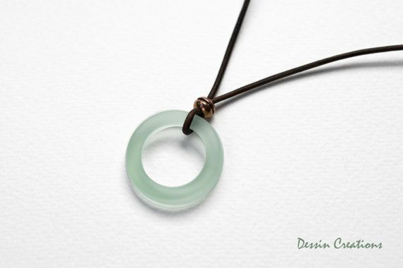 Cola Bottle Jewelry Beach Glass Pendant Made by DessinCreations