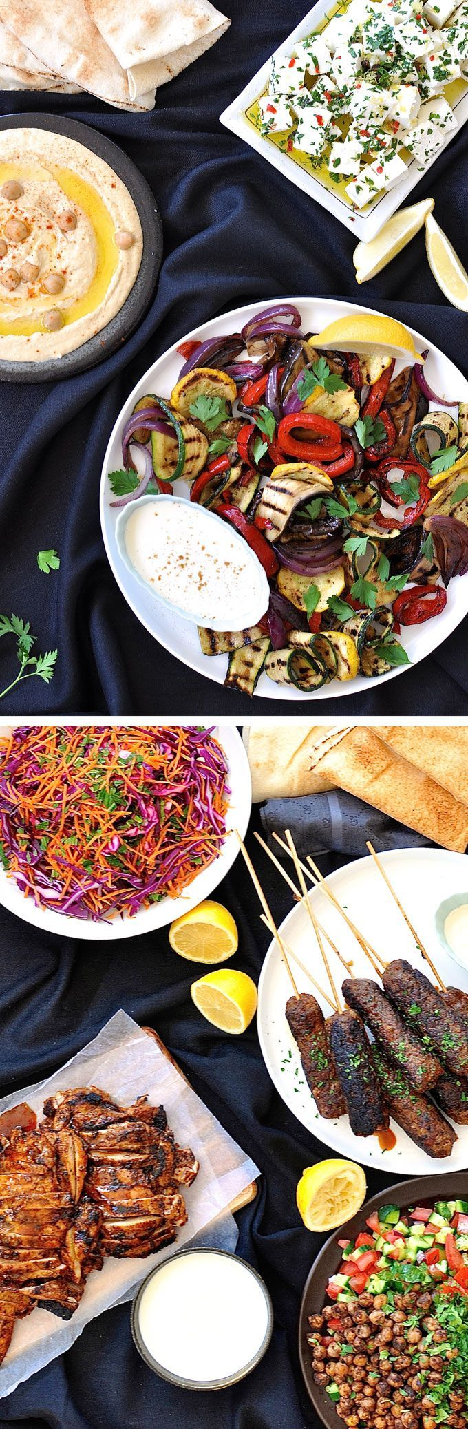 Arabian / Middle Eastern Feast Menu - 7 dishes prepared in 1 hour, largely make ahead. Stress free entertaining!