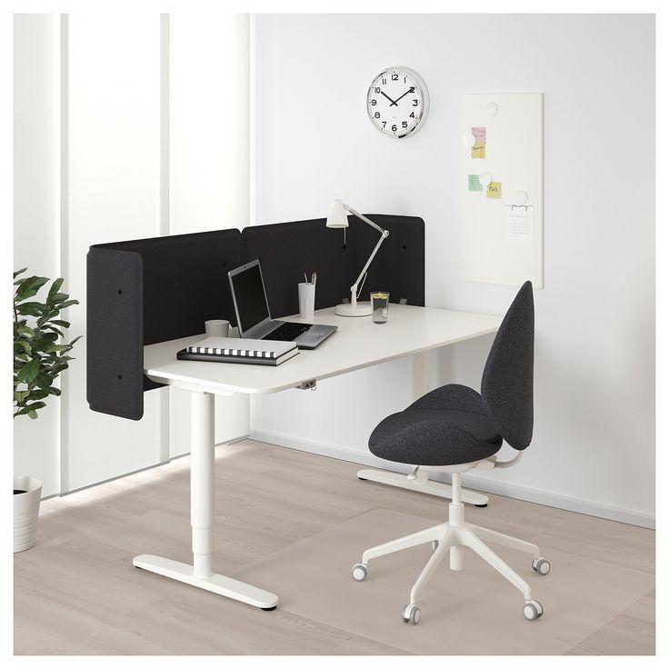 Bekant Reception Desk Sit Stand White Ikea Ecktisch Schreibtischideen Schreibtisch Weiss