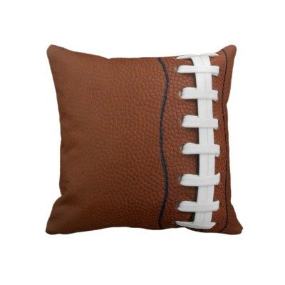 Football Throw Pillow by SjasisSportsSpace