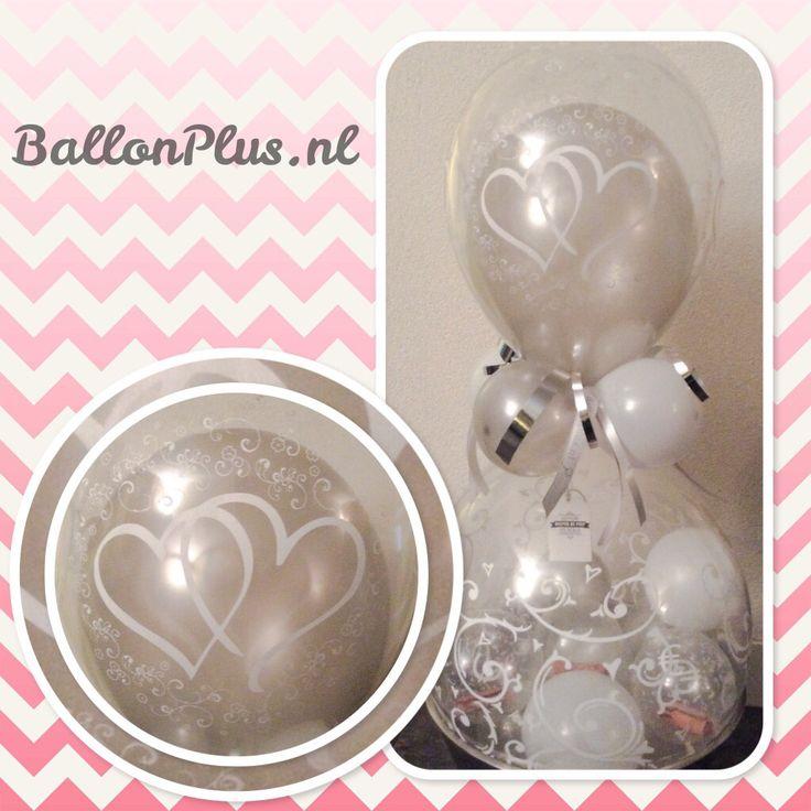 Geld kado ballon love/harten van BallonPlus.nl