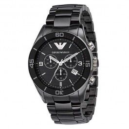 Emporio Armani Men's Ceramic Black Chrnongraph Dial Watch AR1421