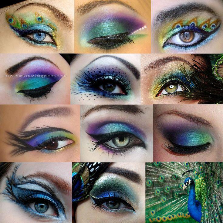 Peacock inspired make-up