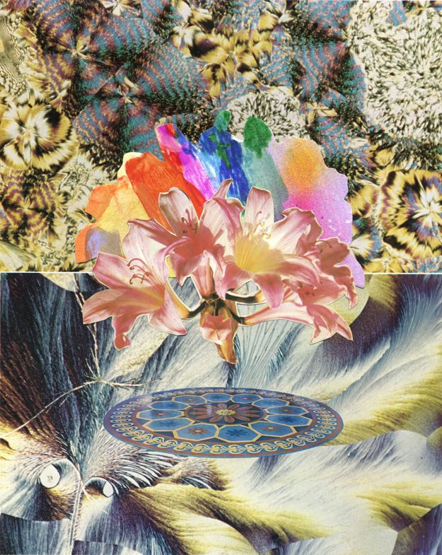 Collage for The Ardorous, 2012  Texta and collage on paper. Minna Gilligan