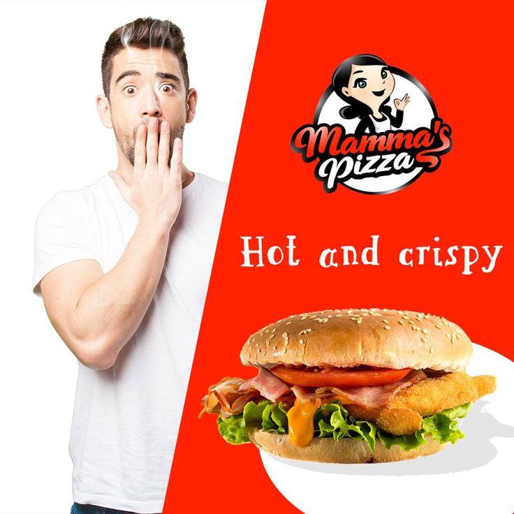 Chicken lover?  Chicken burger!  Φρέσκο σνίτσελ κοτόπουλο με μπέικον, ντομάτα, iceberg και sauce μουστάρδας για να ικανοποιήσει και τους πιο απαιτητικούς!  Με μόλις 2,60€ δικό σου στο www.mammaspizza.gr #mammaspizzaserres #ChickenBurger #NotJustPizza