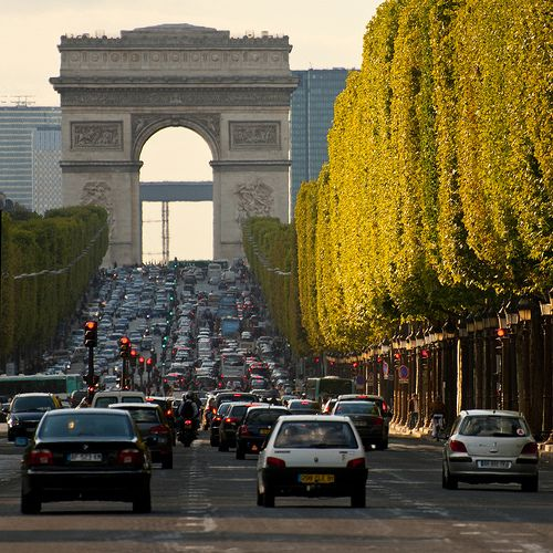 Champs Elysee, Paris -- Busiest traffic circle in the world