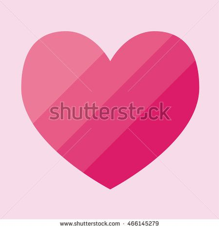 Pink gradation heart icon vector. Vector Illustration. Heart icon. Love symbol