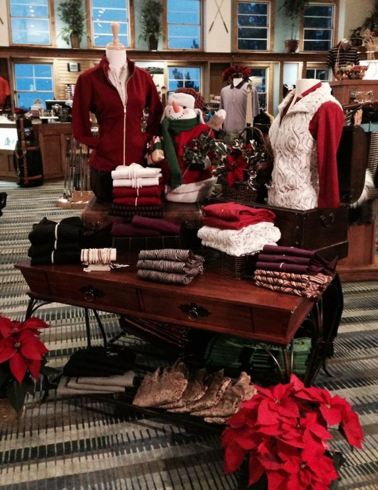 Lone Tree Golf Club and Hotel Pro Shop Women's Sport Haley Holiday Line. Visual merchandising. Retail store display. Women's golf pro shop.