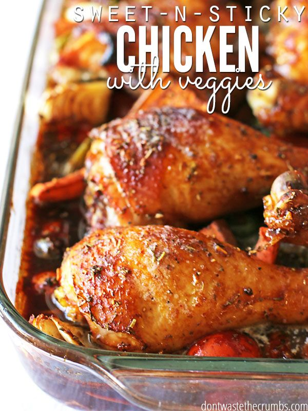 A delicious oven roasted recipe for sweet and sticky chicken. This easy recipe will please the entire family and only takes minutes to prepare!
