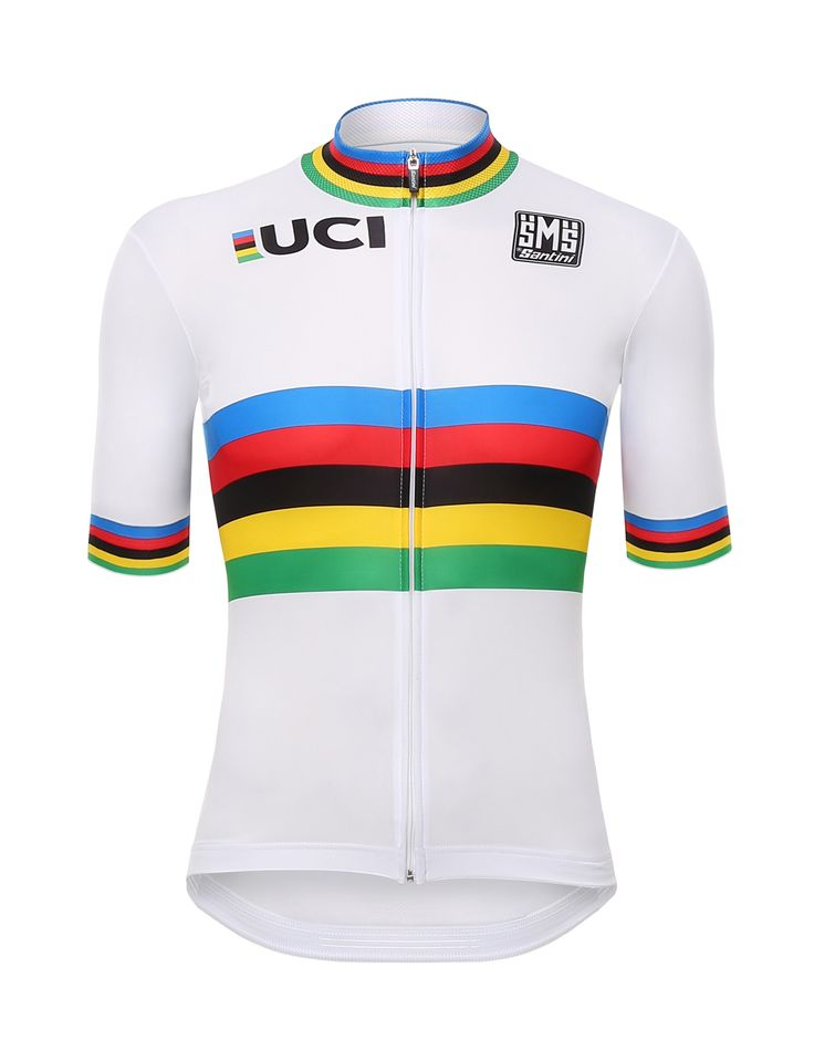 UCI World Championship CYCLING JERSEY (Full zip) Made in Italy by Santini