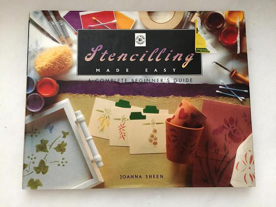 Vintage Book for Stencilling Step-by-Step Instructions Make