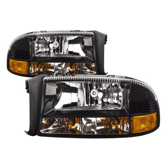97 04 Dodge Dakota 98 03 Dodge Durango 97 04 Dodge Dakota 98 03 Durango Black Headlight Left Driver Right Pass Dodge Durango Dodge Dakota 2003 Dodge Durango