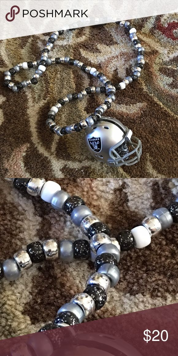 Oakland Raiders rear view mirror decoration! Custom rear view mirror decoration / game day necklace! Get yours today, email choly825@yahoo.com for more details! $20 plus free shipping anywhere, also accept PayPal payments. Check out instagram ( happycreations7 ) Accessories