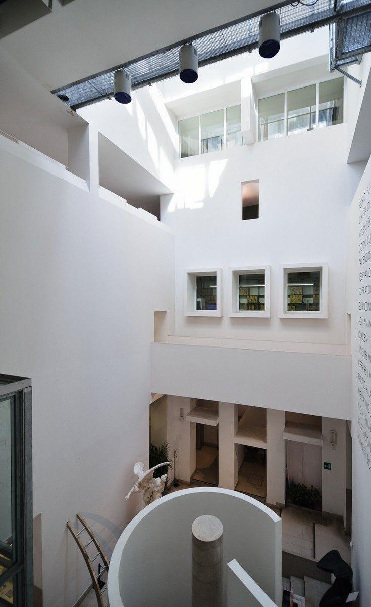 Museo Revoltella, Trieste - Veduta dall'alto dell'atrio scarpiano