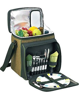 Planning a picnic is easy with this fully equipped picnic cooler for two!
