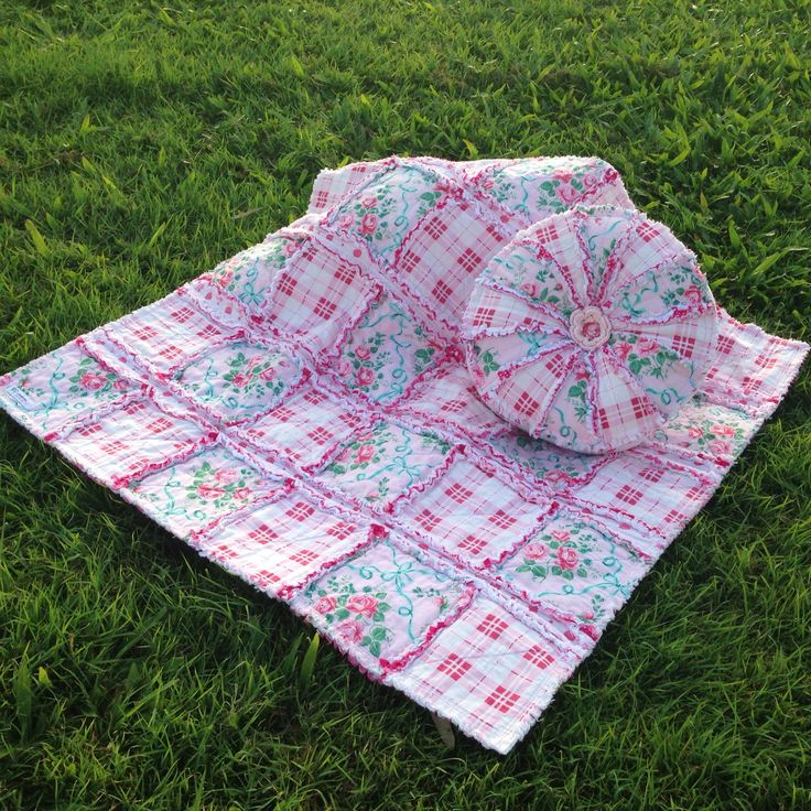 Veranda Raggie Blankie & Sprocket Cushion Set #bdcreations #ragquilt #sprocketcushion