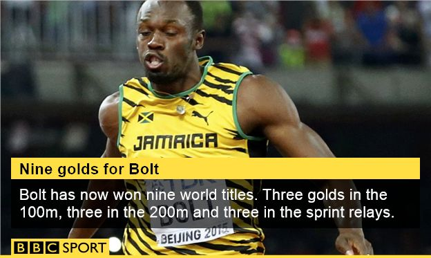 Usain Bolt  beats Justin Gatlin to win world 100m title. What a champion ~ had the character and determination to overcome a difficult season for him with a 9.79 sec 100 m ~ Way To Go Usain
