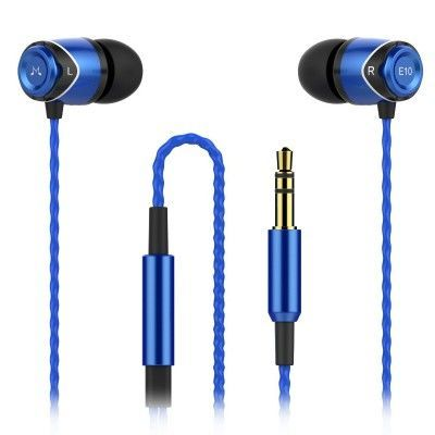 Słuchawki dokanałowe SoundMagic E10 Black-Blue   Słuchawki \ Douszne PREZENTY \ do 200 zł PREZENTY \ Dla Niej   Sprzet-Dyskotekowy.pl - największy i najtańszy sklep internetowy z oświetleniem i nagłośnieniem w Polsce