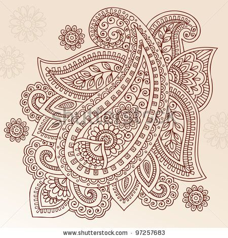 stock vector : Henna Paisley Mehndi Doodles Abstract Floral Vector Illustration Design Element  I think this would be a fantastic tattoo. And I love Paisley's very much.