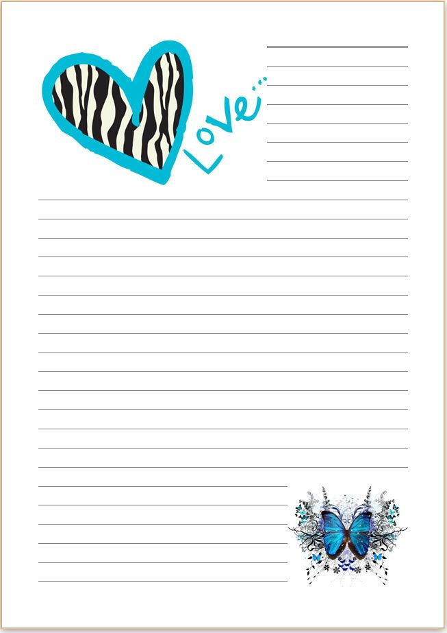 Butterfly paper writing