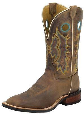 Tony Lama Western Boots Mens Century Cowboy Square Toe Suntan 7973