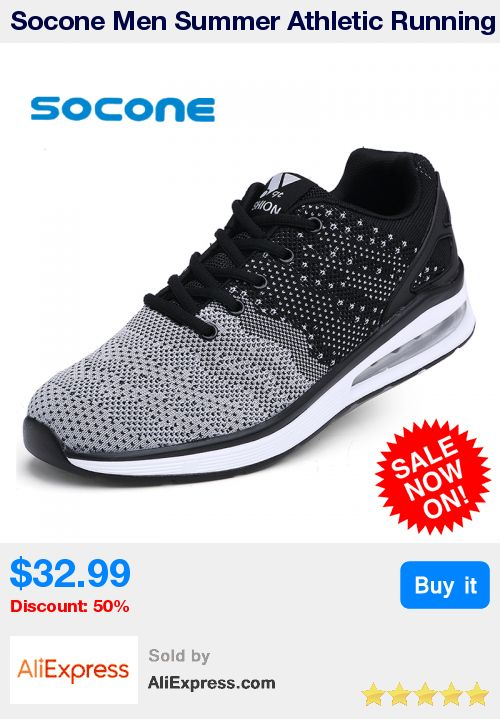 Socone Men Summer Athletic Running Shoes Lightweight Autumn Walking Shoes Lace-up Sport Sneakers Zapatillas Deportivas Hombre * Pub Date: 08:31 Oct 17 2017