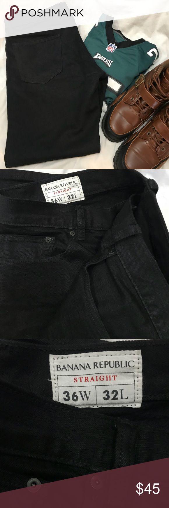 Men's Banana Republic Jeans Men's blackest black jeans. Straight. Size 36Wx32L. Like new condition. Banana Republic Jeans Straight