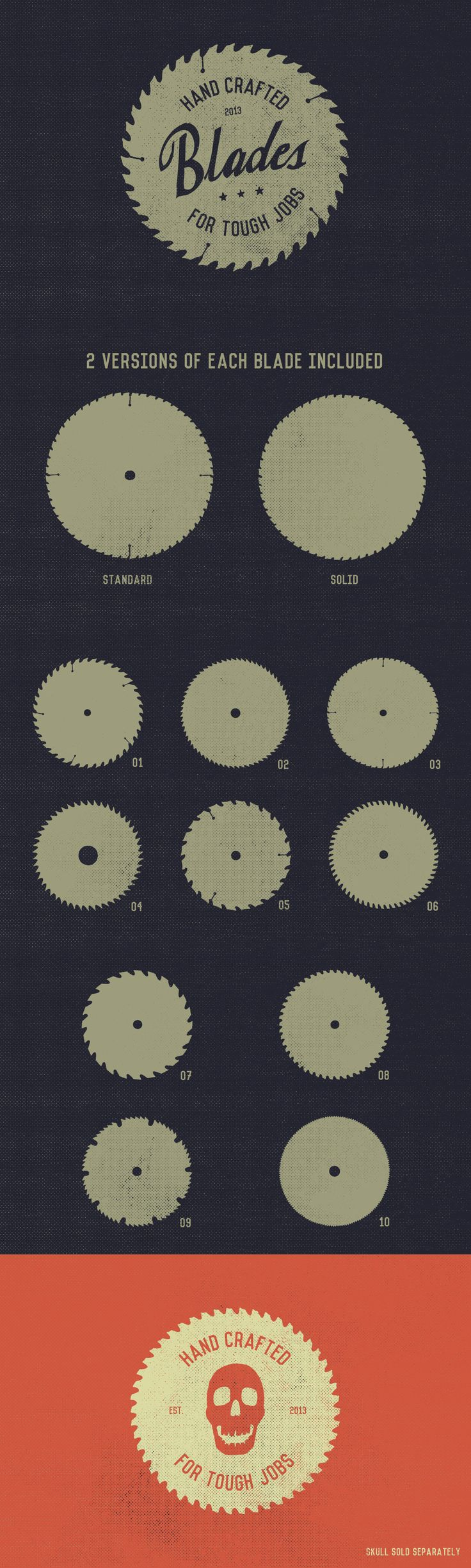Badge Shapes - Circular Saw Blades Template #design Download: https://creativemarket.com/GhostlyPixels/15366-Badge-Shapes-Circular-Saw-Blades?u=ksioks