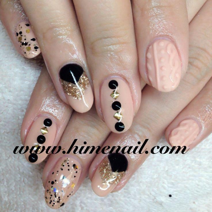 Beige And Black! Japanese Nail Art Www.himenail.com Tustin