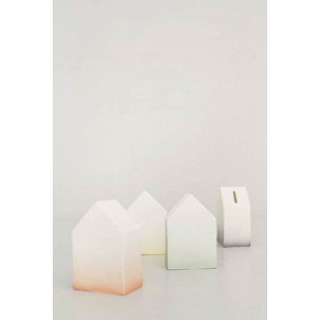 Ferm Living Moneybox белый / зеленый фарфор Дом денег 5,5x12cm