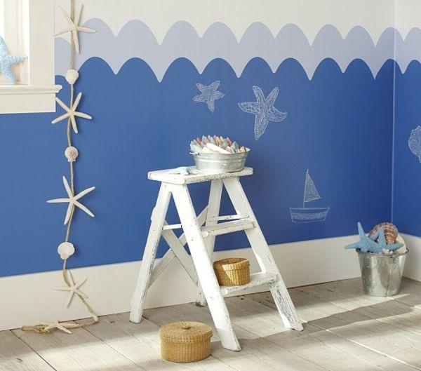 die besten 25 babyzimmer wandgestaltung ideen auf. Black Bedroom Furniture Sets. Home Design Ideas