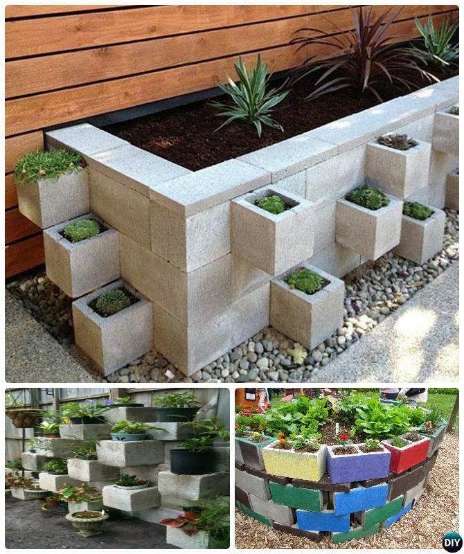 M s de 25 ideas incre bles sobre bloques de hormig n en for Bloques decorativos para jardin